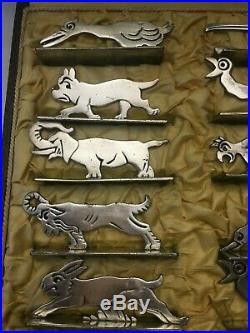 10 Porte couteaux Art Déco daprès Benjamin Ravier animaux orfèvre P D