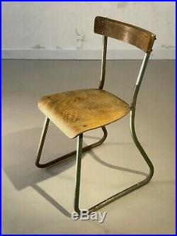 1930 Rene Herbst Chaise Moderniste Bauhaus Cubiste Breuer Art Deco