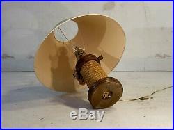 1950 Audoux-minet Lampe Moderniste Reconstruction Shabby-chic Art Populaire