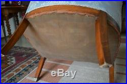 2 Beaux fauteuils art déco style tonneau authentiques art déco 1930
