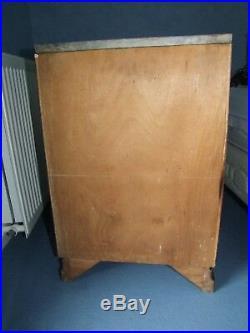 2 CHEVETS + BOIS DE LIT 140 cm ART DECO 1930 en palissandre en bon état