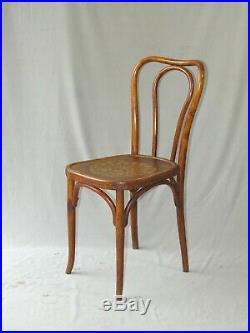 2 chaises bistrot bois-courbé N°48 de Horgen Glarus Ca. 1925, no Thonet Baumann
