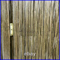 3 Panneaux Paravent en Bois Osier Séparateur Interieur Décoration Homestyle4u