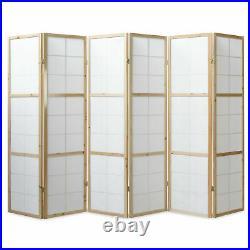 6 Panneaux Paravent Séparateur Japonais Bois Décoration Interieur Homestyle4u