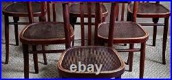 6 chaises bistrot époque Baumann années 30, bois courbé, no thonet, café resto