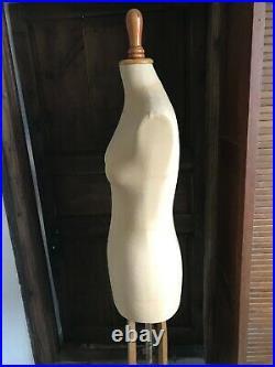 ANCIEN MANNEQUIN DE COUTURE LAVIGNE T 40 piétement art déco superbe