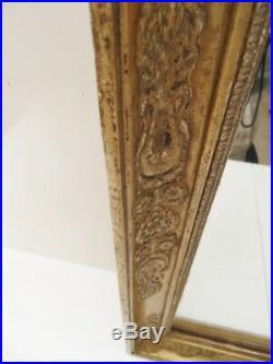 ANCIEN MIROIR MERCURE CADRE BOIS SCULPTE EPOQUE XIXème SIECLE ART DECO NOUVEAU