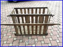ANCIEN cage en bois XIXe pour transport de cochon / déco jardin / art populaire