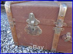 Ancien Coffre Malle de Voyage Bois Vintage Rétro Art Deco Tendance 1930 Chemise
