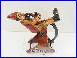 Ancien Lutin En Bois Sculpte Avec Balancelle Vintage Art Deco Creation Atypique