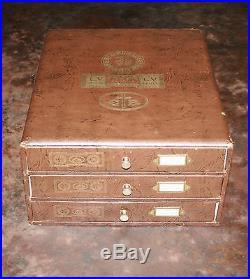 Ancien Présentoir, Boite, Mercerie, Fils 3 Tiroirs LV /cb /jtpf 31x 35,5x 16 CM