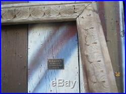 Ancien cadre bois massif peinture a l'huile aquarelle tableau ancien art deco
