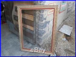Ancien cadre bois pour peinture a l'huile aquarelle tableau ancien art deco