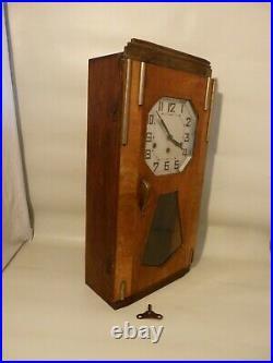 Ancien carillon 3 trous 8 tiges 8 marteaux pendule horloge fonctionne bon etat