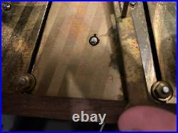 Ancien carillon GIROD Westminster, 8 marteaux, 8 Tiges date, jour, mois No Odo Rare