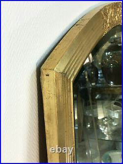 Ancien grand Miroir Doré ART DECO 143 X 83 cm