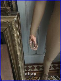 Ancien manequin enfant de vitrine début XXe en bois