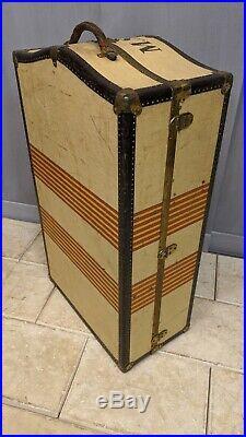 Ancienne MALLE CABINE OSHKOSH de voyage années 1930 américaine USA bagage