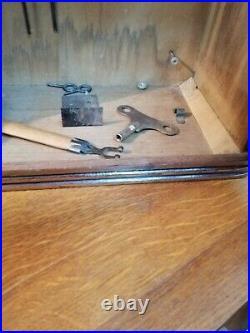 Ancienne PENDULE HORLOGE CARILLON ART DECO 8 Tiges 8 Marteaux Marque ODO