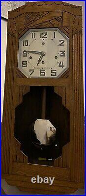 Ancienne PENDULE HORLOGE CARILLON ART DECO 8 Tiges 8 Marteaux Marque ODO No 36