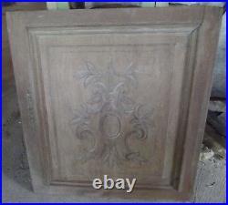 Ancienne Paire de Porte Ornements sculpté Vintage Bourgogne Art Deco 1939