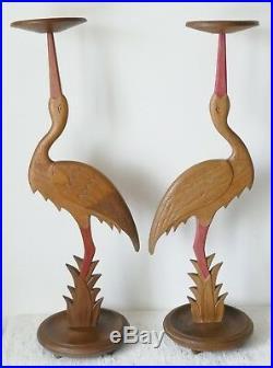 Ancienne Paire de Serviteurs Groom Cigognes Alsace Hansi