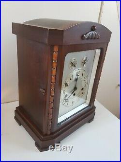 Ancienne Pendule carillon à marteaux Junghans Wurttember Westminster Chimes
