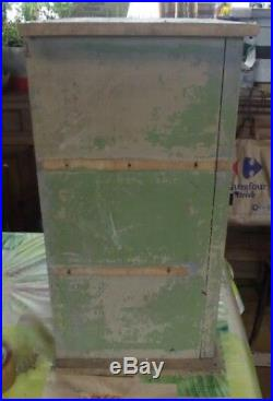 Ancienne Vitrine à Épices Cuisine 1 Porte 60 x 39 x 31 cm Vintage 1900