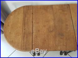 Antique table basse bois et fer forge très ancienne 4 parties amovibles