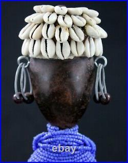Art Africain Contemporain Déco Ethnique Tribale Poupée Namji sur Socle 34 Cms