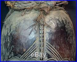 Art Africain Masque ancien Baulé tricéphale 39 cm rare originalité très déco