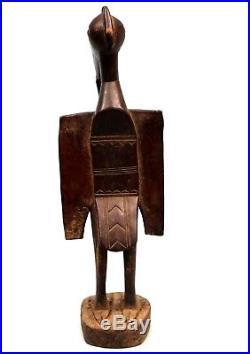 Art Africain Statue Calao Senoufo en Bois Déco Ethnique Tribale 75 Cms +++