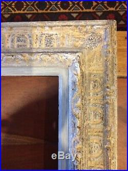 Art-déco Cadre ancien en bois Patiné sculpté Montparnasse