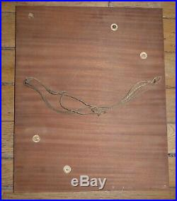 Art déco moderniste ALBERT GUENOT cadre en placage de bois 1930's