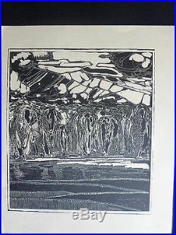 BOIS ORIGINAL Paul JOUVE ART DECO début XXéme siécle TROUPEAU ELEPHANT