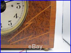 BULLE CLOCK PENDULE ELECTRIQUE HORLOGE ANCIENNE art deco