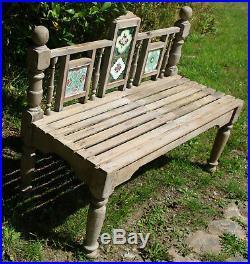 Banc Ancien En Bois Avec Carreaux Art Nouveau Art Déco