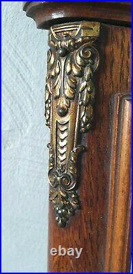 Barometre & Thermometre Murale En Bois Bronze Décor Style Art Deco Art Nouveau
