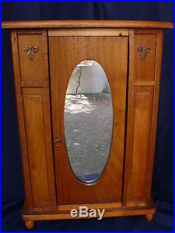 Belle Et Rare Armoire Art Deco De Poupee Ancienne En Bois Massif