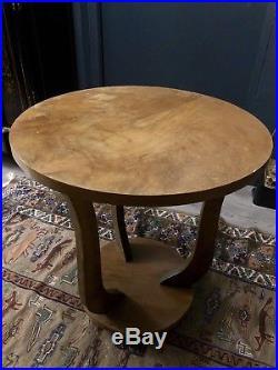 Belle Petite Table Guéridon En Bois Art Déco