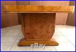 Belle table bateau années 1925 art déco en placage de bois jaune. XX siècle