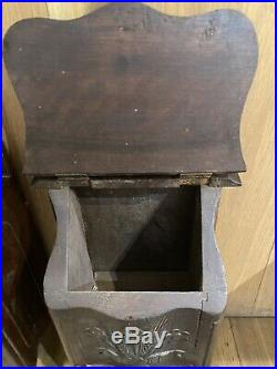 Boite A Sel+Farinio Provencal Bois Sculpté