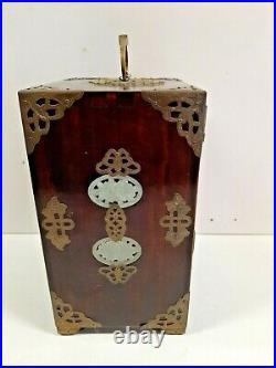 Boite coffret a bijoux Asiatique haut 24.5 larg 17.5 prof 13.5 cm