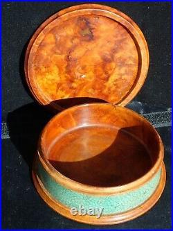 Boite en loupe de thuya et galuchat par CLEMENT ROUSSEAU