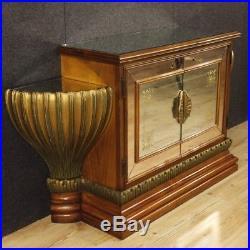 Buffet Art Déco italien meuble style ancien bois laqué doré miroirs 900