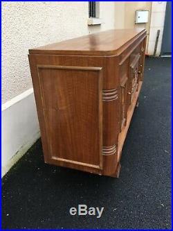 Buffet enfilade Art Deco meuble bois 4 portes Noyer