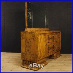 Buffet enfilade Art Déco meuble miroir italien bois style ancien vintage 900
