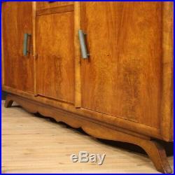 Buffet enfilade française style Art Deco meuble commode bois 3 portes acajou