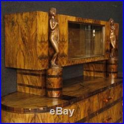 Buffet italien style ancien Art Deco meuble en bois noyer commode salon 900