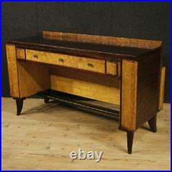 Bureau table meuble style ancien Art Deco en bois 3 tiroirs 900
